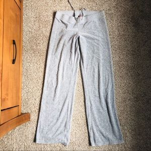 Juicy Couture Gray Velour Tracksuit Sweatpants